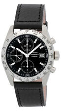 Eberhard & Co. Champion Chronograph Automatic Black Leather Mens Watch 31044.14