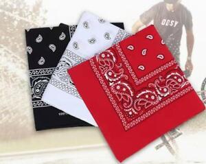 BANDANA scarves funky design leopard print PAISLEY pattern neck wrist biker mask