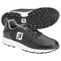 Footjoy Athletics Spikeless Golf Shoes Black/Black - Choose Size & Width