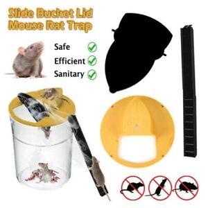 Mousetrap Slide Bucket Lid Mouse Rat Trap Flip N Slide Mouse Trap Bucket Catcher