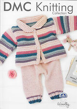 DMC Knitting Pattern: Baby Girls Cardigan and Trouser Set  0-3-6-9mths 15199L/2