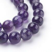 1 Strand of 8mm Natural Indigo Amethyst  24 Beads Round