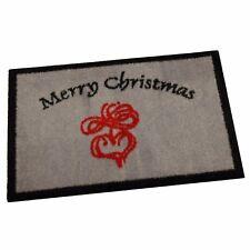 """Weihnachten Teppich Matte """"MERRY CHRISTMAS"""" 40x60 cm rutschfest waschbar"""