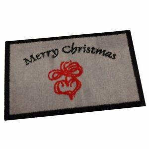 "Navidad Alfombra Estera ""Merry Christmas"" 40x60 CM Antideslizante Lavable"