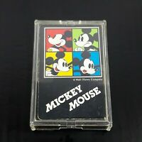 Vintage Walt Disney Company Mickey Mouse Playing Cards Deck in Case Japan