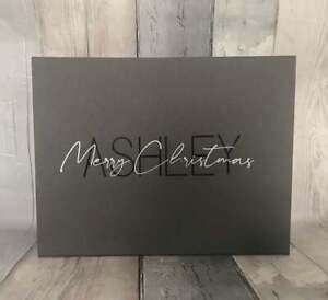 Luxury Personalised Magnetic Christmas Gift Box Keepsake Box, Merry Christmas