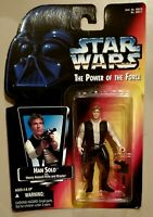 Star Wars Power of The Force Red Card Han Solo Kenner Figure