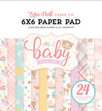 "New Echo Park  6"" x 6"" Paper Pad Hello Baby Girl"