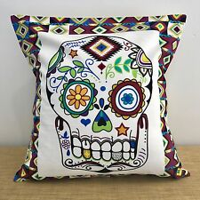 "CLEARANCE!..........18"" (45cm) MEXICAN SUGAR SKULL Cushion Cover. Made Australia"