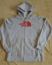 North Face Boys XL 18/20 Gray Hooded Zip Up Jacket Coat NWOT Red Lettering