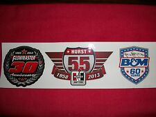 Flowmaster Exhaust Hurst B&M Anniversary Sticker Decal Hot Rod Race Classic Car