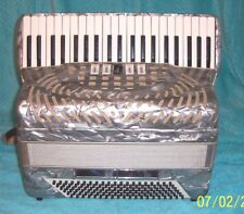 "Silver Pancordion Video 120 bass Accordion 5/2 reg. Accordian G. Cond. 17"" 19lbs"