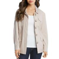 Karen Kane Womens Tan Tencel Blend Fall Utility Jacket Outerwear XS BHFO 5121