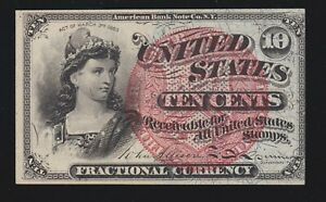 US 10c Fractional Currency 4th Issue FR 1261 Ch CU (002)