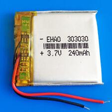 3.7v 240mAh LiPo Battery 303030 Cell for MP3 GPS Headphone Bluetooth Smart watch
