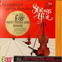 CLEBANOFF AND HIS ORCHESTRA  STRINGS AFIRE  MERCURY RECORDS EXCELLENT RARE