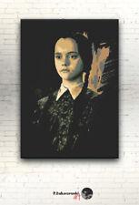 "The Addams Family - CANVAS 16""x12"" print poster Christina Ricci Wednesday Addams"