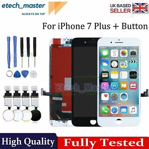 For iPhone 7 Plus LCD Digitizer Screen Replacement Home Button 3D Touch Assembly