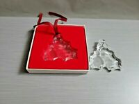 2~ 1990 Orrefors Sweden Glass Crystal Holly Berry Leaf Christmas Tree Ornament