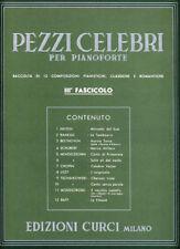 PEZZI CELEBRI Fasc. 3° - per pianoforte - Edizioni Curci