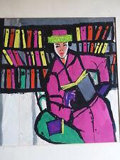 Originalzeichnung Werbung Plakat für das Buch oder Bücher Horst BEISSWENGER