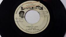 "Clancy Eccles - Free at last / Reggae7"" on Clandisc Label"