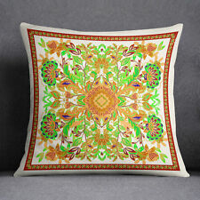 S4Sassy Floral Printed Home Decorative Cushion Case Square Green Pillow Cover
