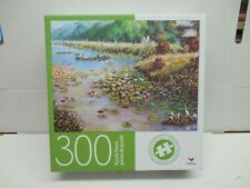 Jigsaw Puzzle New In Box 300 Piece Lotus Flower Swamp Pond with Cranes Birds