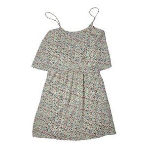 NWT MANGO Basics Floral Ruffled Mini Dress Size 2