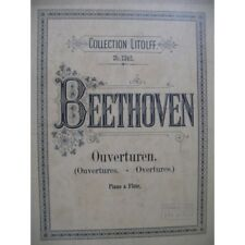 BEETHOVEN Ouvertures Piano Flute partition sheet music score