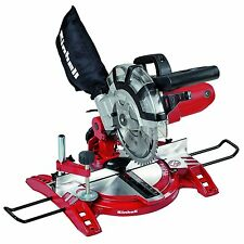 EINHELL Compound Mitre Chop Saw Rotating Table Angle Cut Dust Bag 1400 W 1,4kW