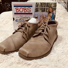 NIB Bobs By Skechers Chill Luxe Drifting Bootie Taupe Womens Size 9 Women's
