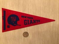 "VINTAGE 1960s-1970s NEW YORK GIANTS NFL FOOTBALL MINI PENNANT 9-1/4"" STIFF"