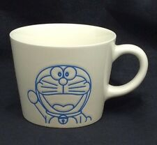Doraemon Ceramic Mug Coffee Cup Embossed Blue Fujiko Pro Shogakukan Tv Rare