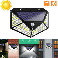 30-120LEDs Solar PIR Motion Sensor Wall Lamp Waterproof Garden Walkway Light #SN