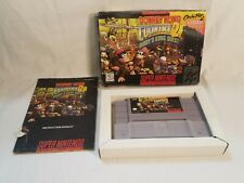 Super Nintendo SNES Donkey Kong Country 2 Diddy's Quest Complete CIB +Box,Manual