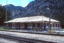 MONTANA RAIL LINK MRL Station at Paradise, MT. 8/91 ORIG KODACHROME SLIDE PC0101