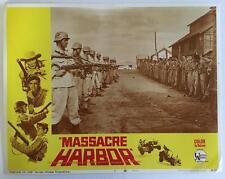 commando operation to free the prisoners Massacre Harbor 1968 # 5 lobby card 317