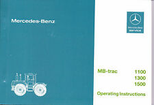 MB-trac 443 1100 1300 1500 Factory Operating Instruction Manual - NEW