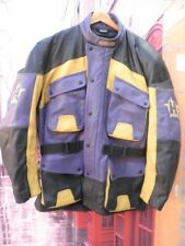 3/4 CUERO GRUESO VINTAGE HARRO CHAQUETA PIEL MOTORISTA BIKER PROTECCIONES XL