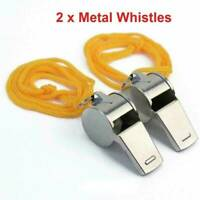 12 X METAL REFEREE WHISTLES KEYRING SPORTS PE SCHOOL FOOTBALL RUGBY PARTY