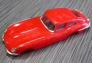 1964 IDEAL MoToRiFiC Jaguar XKE Body VINTAGE 1/43 SLOT CAR