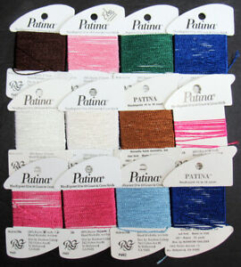 12x Needlepoint/Embroidery THREAD R GALLERY Patina rayon-mixed-ZZ511