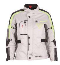 Modeka el Chango Kids Niños motocicleta textil chaqueta gris claro amarillo 152