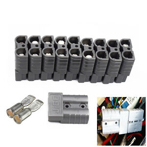 10PCS Battery Connector Kit 50A 6AWG Plug Connect Disconnect Winch Trailer Great