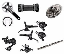 Shimano XT MTB M8000 1x11 Speed Group Set With Brake set 175mm-B1 11-42T 9pcs W