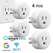 4 X WiFi Smart Plug Socket Voice Wireles Remote Control Outlet Google Home Alexa