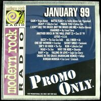 "PROMO ONLY ""MODERN ROCK JANUARY 1999"" DJ PROMO CD COMPILATION FATBOY SLIM *NEW*"