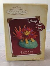 Mighty Simba 2005 Hallmark Keepsake Ornament Disney's the Lion King Magic Sound