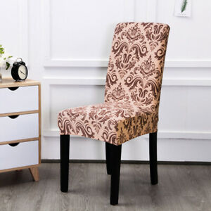4/6pcs Stretchable Dining Room Chair Cover Spandex Slipcover Protector Removable
